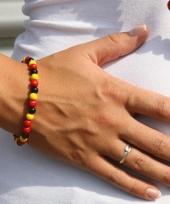 Kralen armbanden zwart rood geel