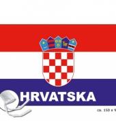 Kroatie fan vlag