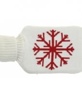 Kruik met witte hoes met sneeuwvlok