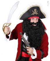 Krullende piraten baard zwart