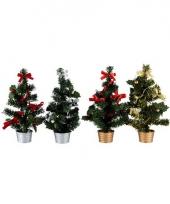Kunst kerstboom 30 cm rood zilver
