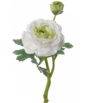 Kunstbloem witte ranonkel 35 cm
