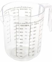 Kunststof maatbeker 1 liter