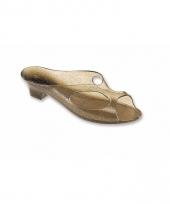 Kunststof slippers met hak voor dames