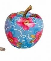 Kunstzinnige blauwe appel spaarpot