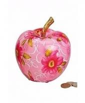 Kunstzinnige roze appel spaarpot