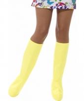 Laarshoezen geel voor dames