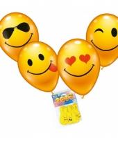Lachende emoticon ballonnen 8 stuks