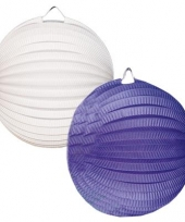 Lampionnen setje blauw en wit