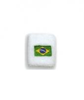 Landen zweetbandje vlag brazilie