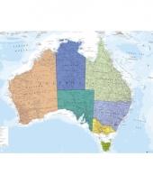 Landkaart australie poster 91 5 cm