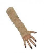 Lange handschoenen fluweel look 10019406
