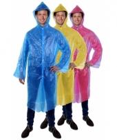 Lange regenjas poncho voor festival blauw