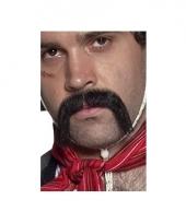 Lange zwarte mexicaanse snor