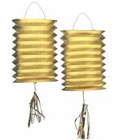 Lantaarn lampion goud 2 stuks