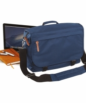 Laptop schoudertas navy 15 inch 10064135
