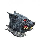 Latex dieren masker van een hellhond