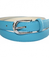 Lederlook blauwe riem 105 cm