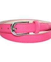 Lederlook roze riem 105 cm