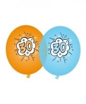 Leeftijd ballonnen 30 jaar blauw en oranje