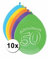 Leeftijd ballonnen 50 jaar abraham 10 stuks