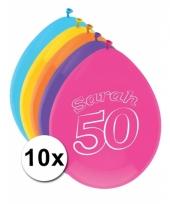Leeftijd ballonnen 50 jaar sarah 10 stuks