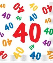 Leeftijd servetten 40 jaar 16 stuks