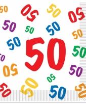 Leeftijd servetten 50 jaar 16 stuks