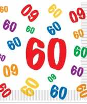 Leeftijd servetten 60 jaar 16 stuks