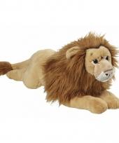 Leeuw knuffeldier liggend pluche 70cm