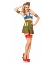 Leger bomber girl kostuum voor dames