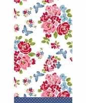 Lente voorjaar bloemenprint tafelkleed tafellaken roosjes 120 x 180 cm van papier
