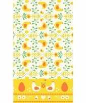 Lente voorjaar thema tafelkleed geel oranje 138 x 220 cm