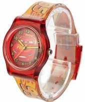 Leren klokkijken rode analoge cars horloges voor kinderen jongens