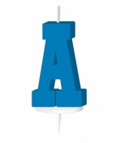 Letter kaarsen blauw a