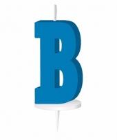 Letter kaarsen blauw b