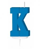 Letter kaarsen blauw k