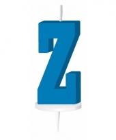 Letter kaarsen blauw z