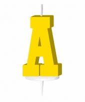 Letter kaarsen geel a