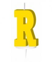 Letter kaarsen geel r
