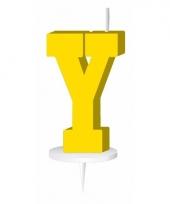 Letter kaarsen geel y