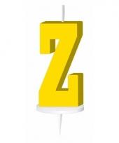 Letter kaarsen geel z
