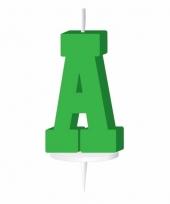 Letter kaarsen groen a