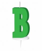 Letter kaarsen groen b