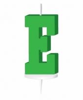 Letter kaarsen groen e