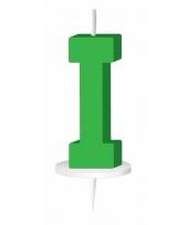 Letter kaarsen groen i