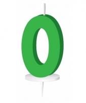 Letter kaarsen groen o