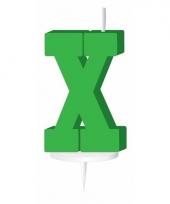 Letter kaarsen groen x
