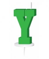Letter kaarsen groen y