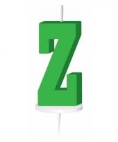 Letter kaarsen groen z